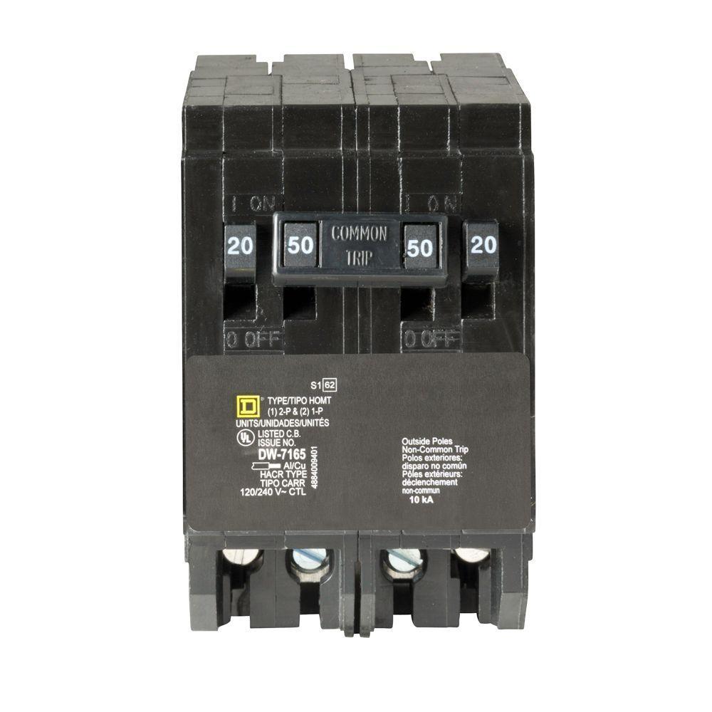 Square D Homeline 20 Amp 2-Pole GFCI Circuit Breaker-HOM220GFI - The