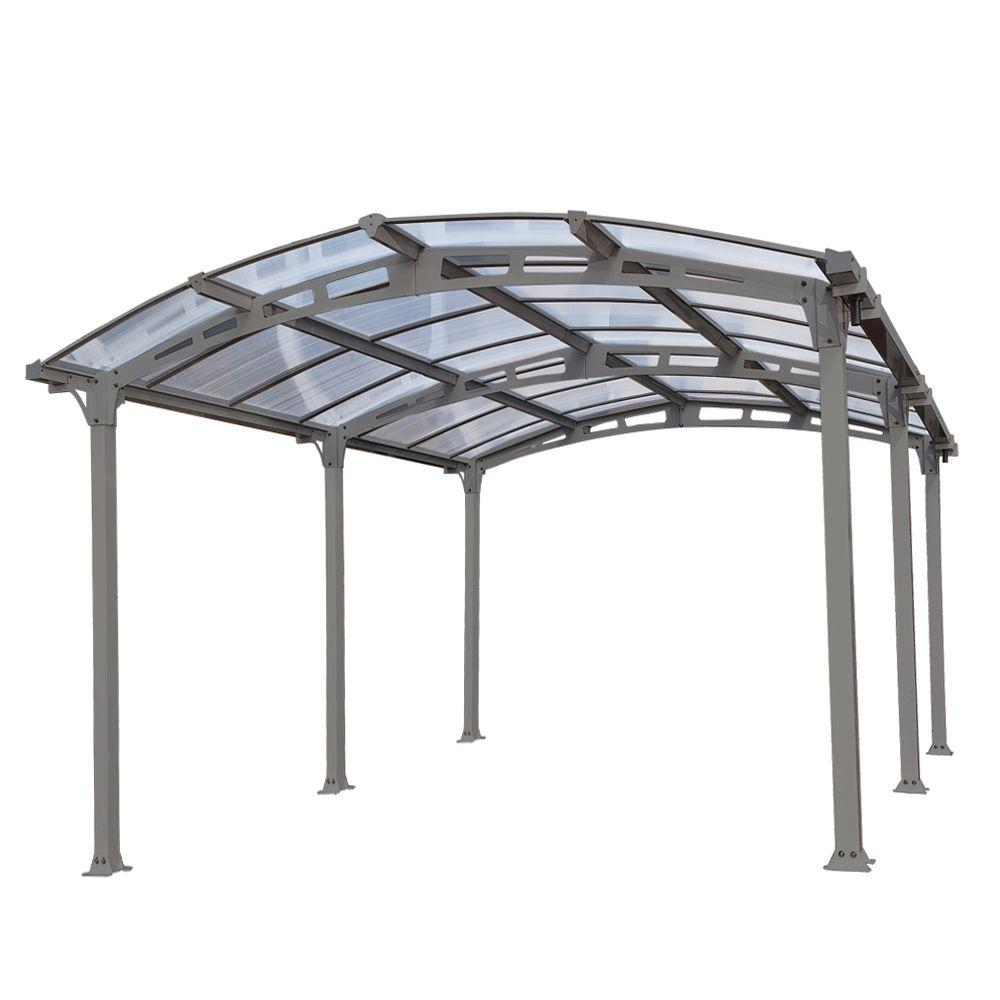 Zeichnung Carport Palram Arcadia 5 000 12 Ft X 16 Ft Carport With Polycarbonate Roof