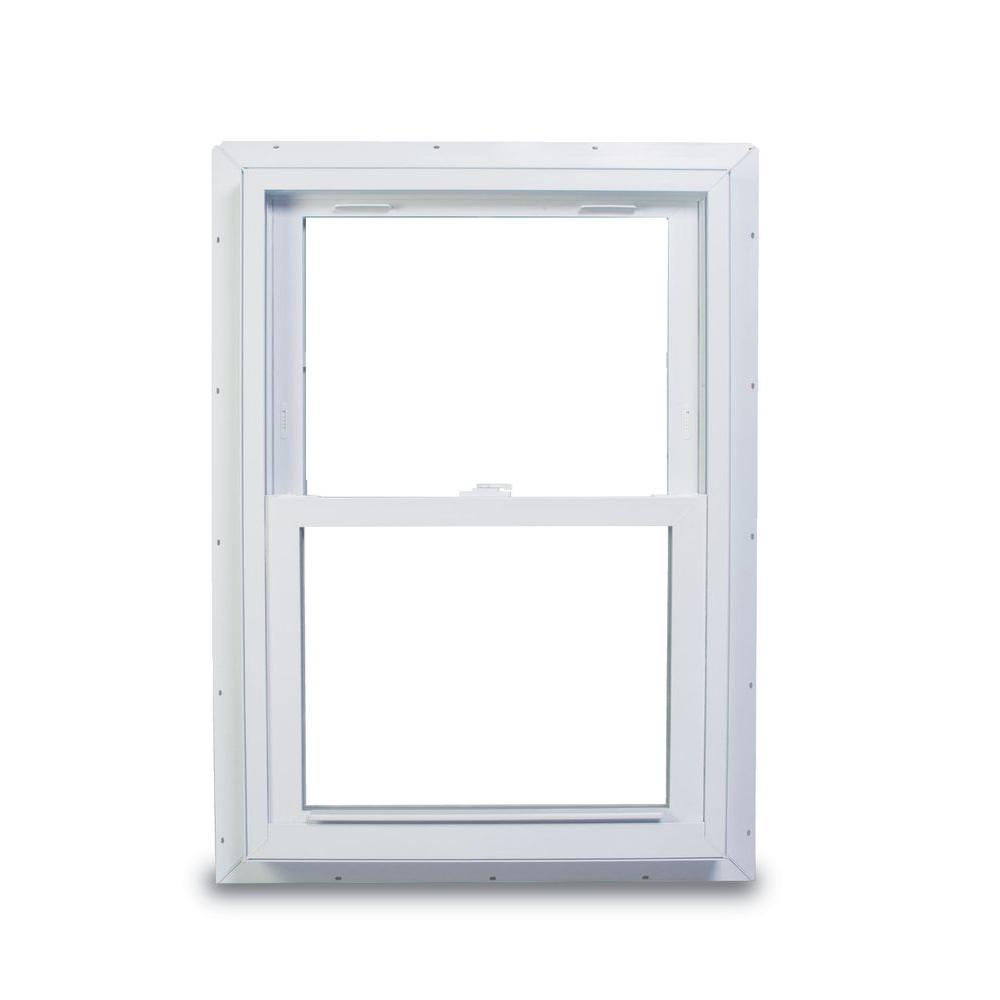 Ikea Box Frame 50 X 50 American Craftsman 33 75 In X 40 75 In 70 Series Double Hung White Vinyl Window With Nailing Flange