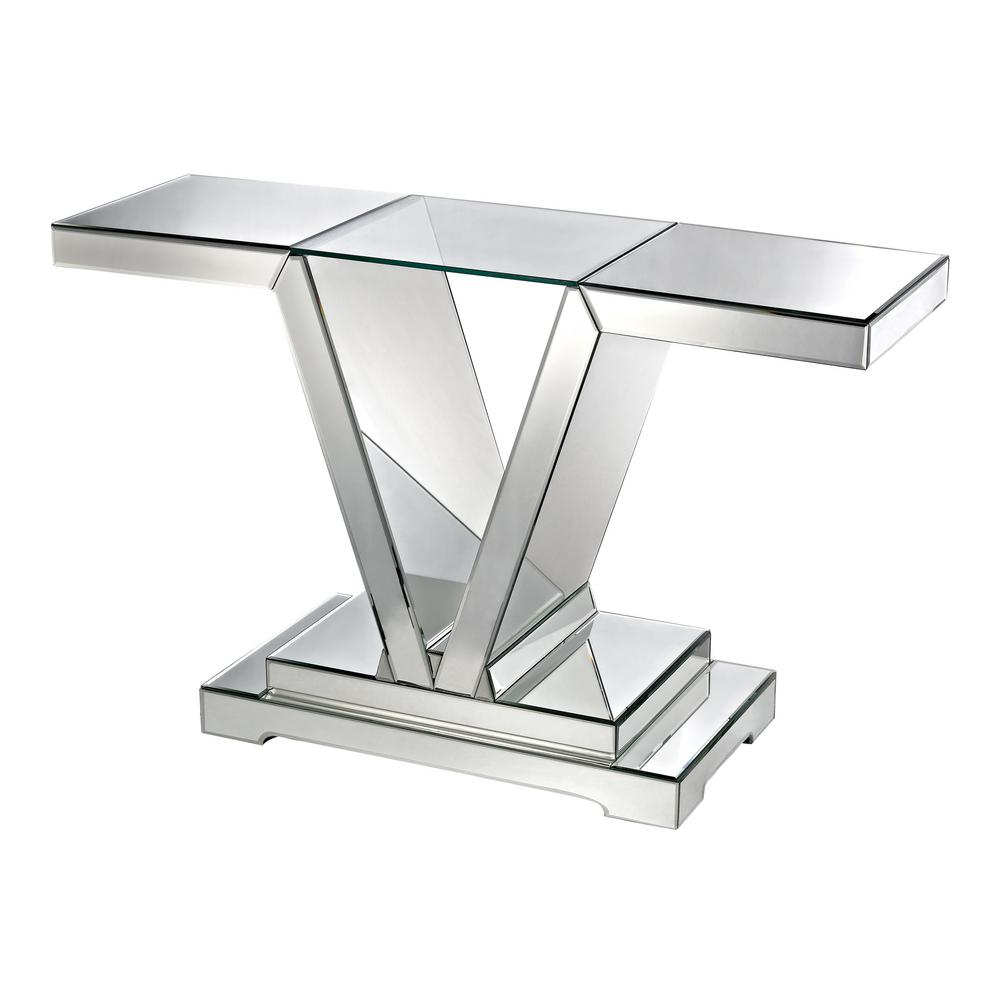 Glass Top Console Table Mirrored With Clear Glass Top Console Table