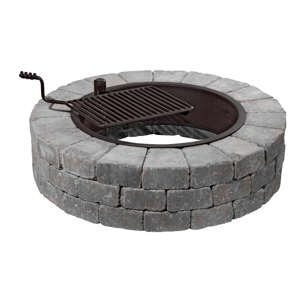 Home Depot Fire Pit Necessories Grand 48 In Fire Pit Kit In Bluestone With Cooking Grate