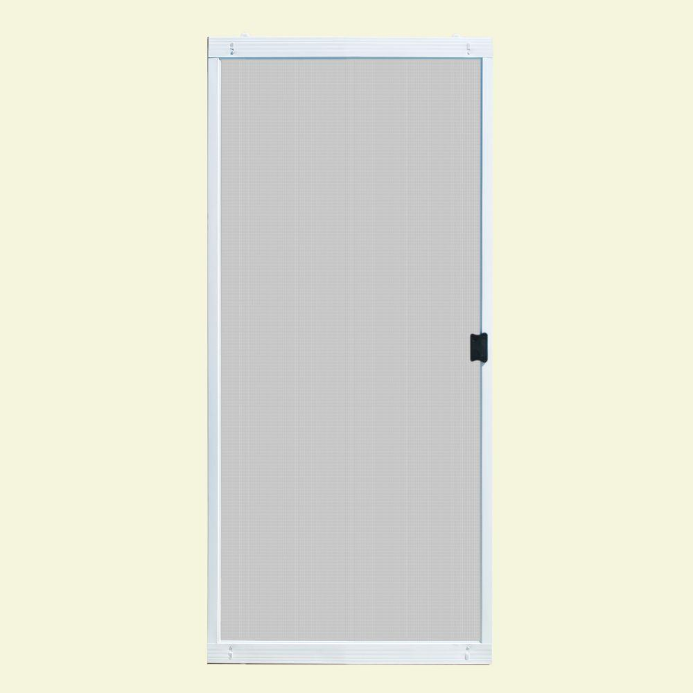 Unique Home Designs 36 in. x 80 in. Standard White Metal