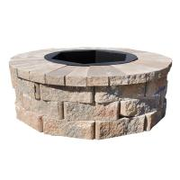 Pavestone 40 in. W x 14 in. H Rockwall Round Fire Pit Kit ...