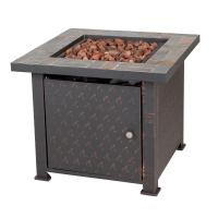 Fire Sense Penbrook 30 in. x 24 in. Square Steel Propane ...