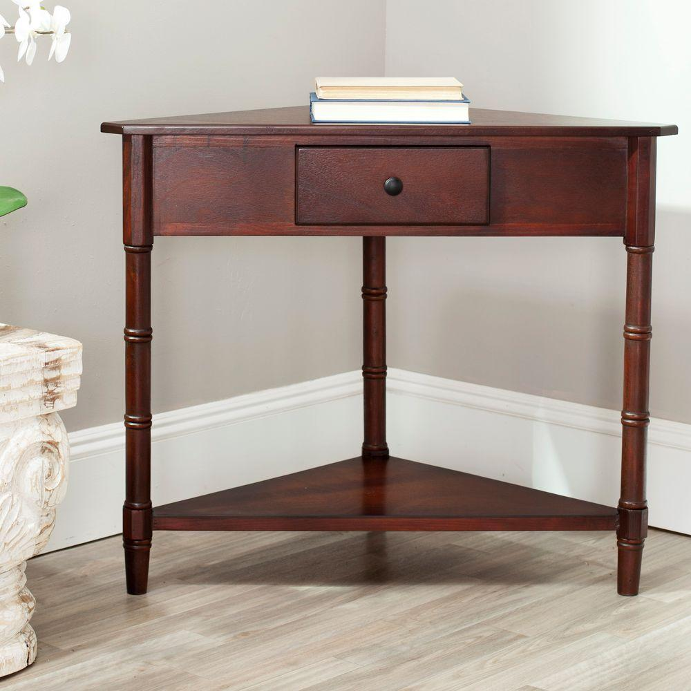 metal and wood console tables