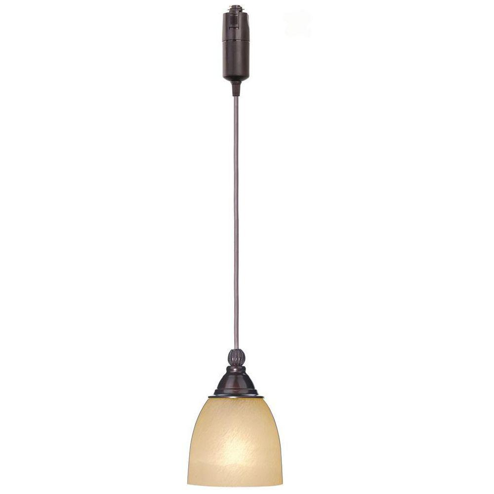 Pendant Track Lights Hampton Bay 1 Light Antique Bronze Linear Track Lighting Pendant With Optional Direct Wire Canopy
