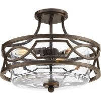 Progress Lighting Soiree Collection 3-Light Antique Bronze ...
