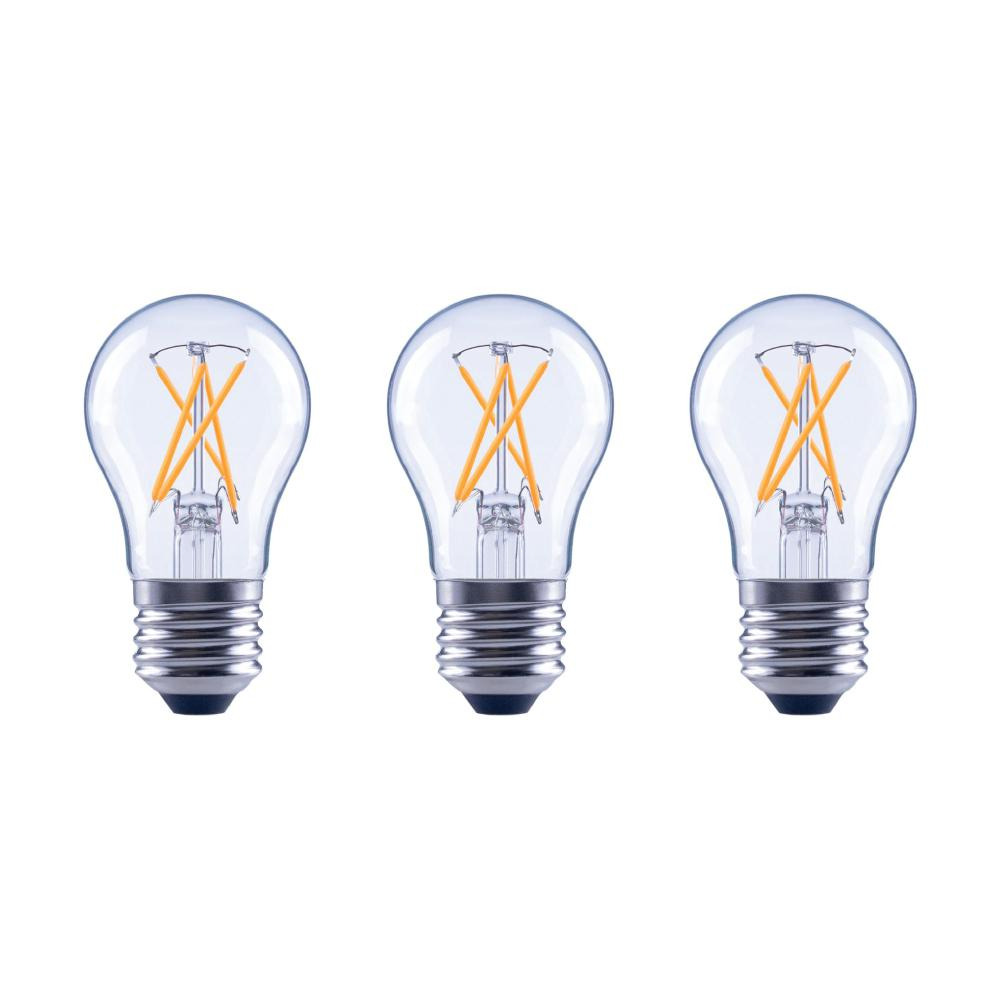??led Ecosmart 60 Watt Equivalent A15 Dimmable Clear Glass Decorative Filament Vintage Edison Led Light Bulb Soft White 3 Pack