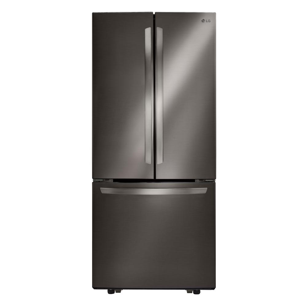 Home Depot Fridges Canada Lg Electronics 21 8 Cu Ft French Door Refrigerator In Stainless Steel