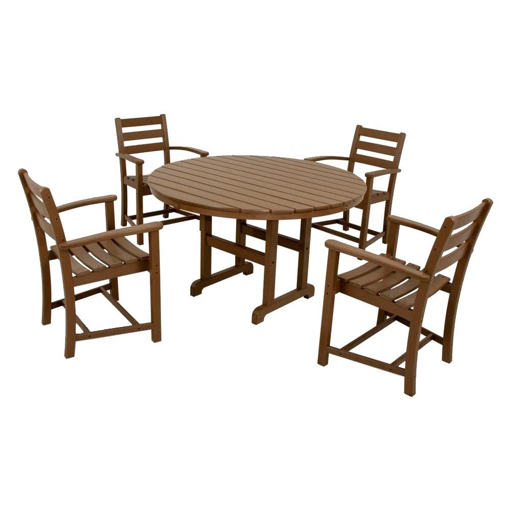 Outdoor Furniture Dining Set Sale Trex Outdoor Furniture Monterey Bay Tree House 5 Piece Plastic Outdoor Patio Dining Set