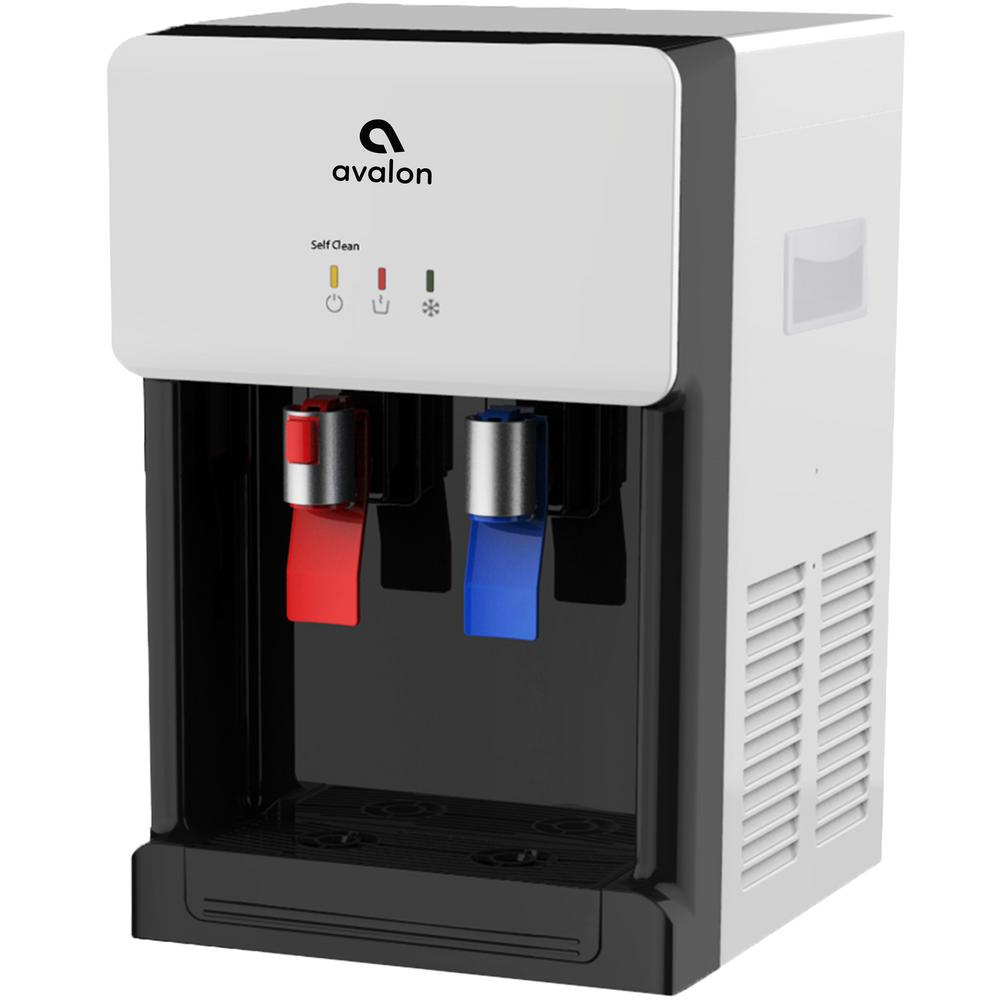 Countertop Instant Hot Water Dispenser Avalon Countertop Self Cleaning Bottle Less Water Cooler Nsf Certified Filter Ul Energy Star Approved In White