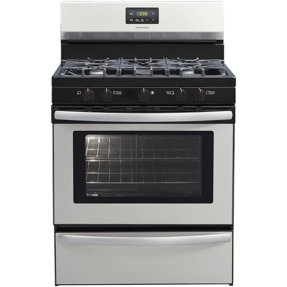 Frigidaire Stove Parts Canada Frigidaire 30 In 4 2 Cu Ft Gas Range With 5 Burner Cooktop In Stainless Steel
