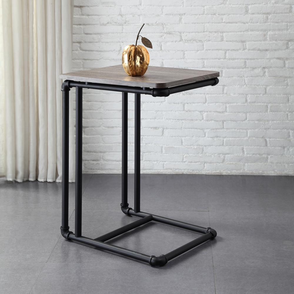 Industrieel Sidetable Neu Home Manchester Industrial Gray And Black Industrial