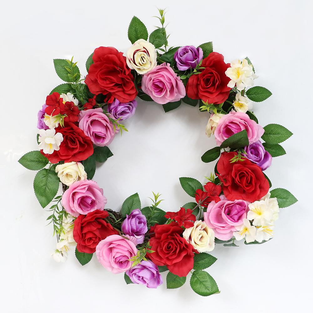Rose 20 In Wreath With Rose S