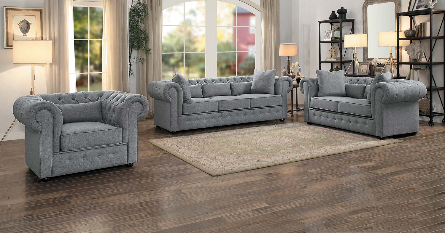 Sofa Set Grau Homelegance Savonburg Sofa Set Gray 8427gy Sofa Set At