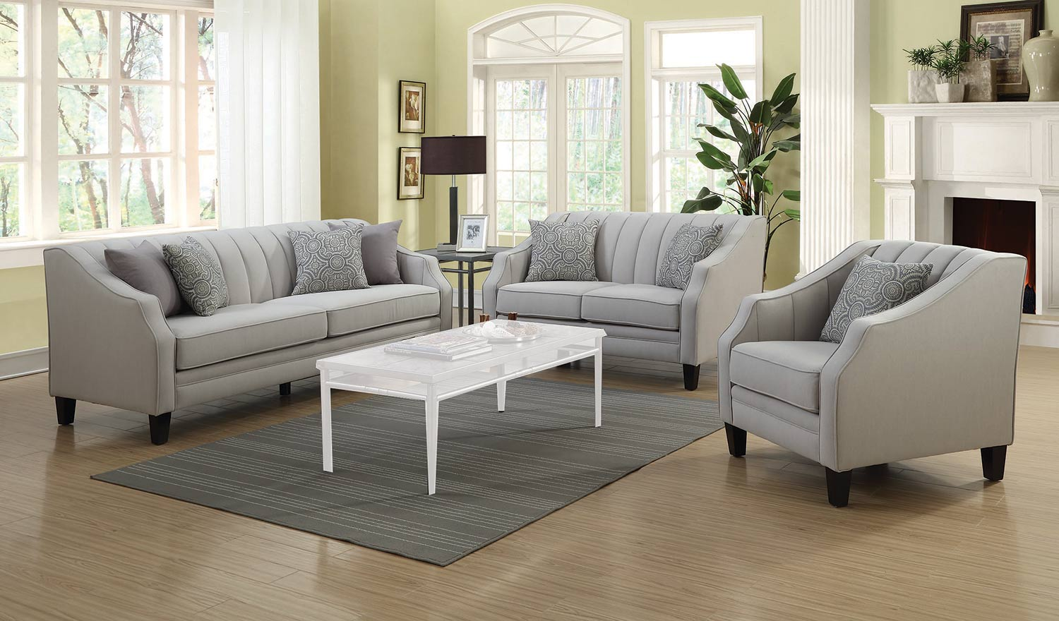 Sofa Set Grau Coaster Loxley Sofa Set Grey 551141 Sofa Set At