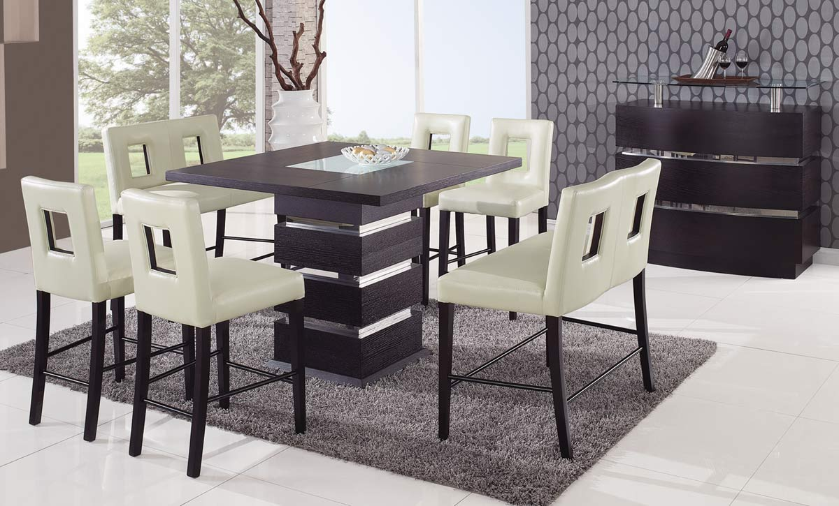 Modern Dining Set Global Furniture Usa G072 Counter Height Dining Set Beige
