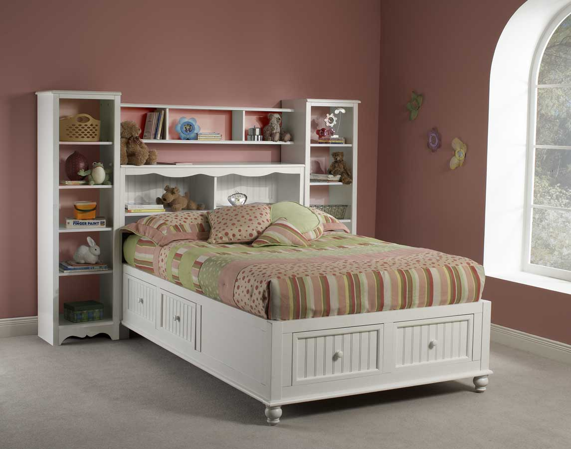Bookcase Bed Hillsdale Westfield Platform Bookcase Bed With Wall Storage