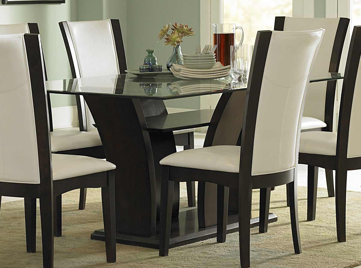 Glass Dining Table And Chairs Homelegance Daisy Rectangular Glass Dining Set