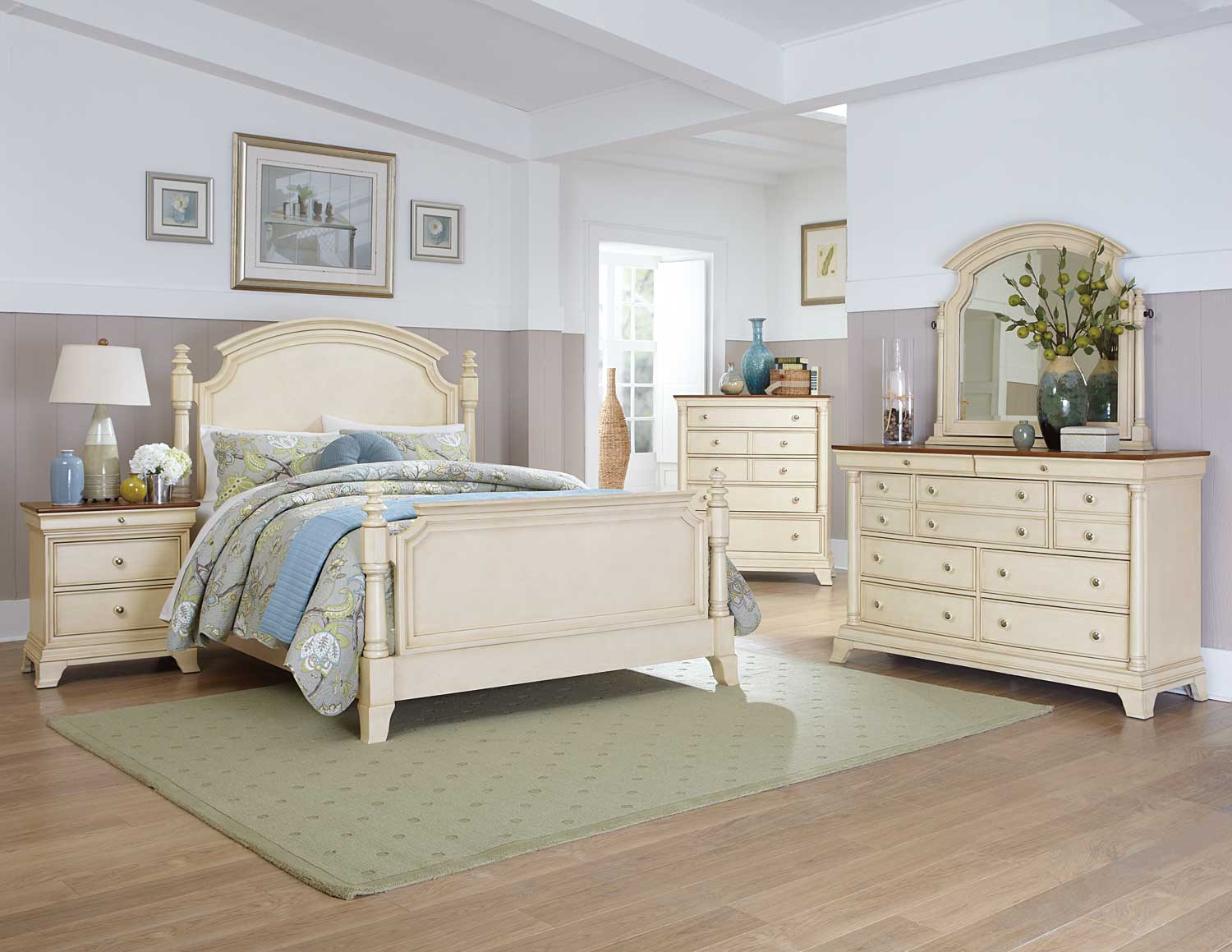 Cream Colored Bunk Beds Homelegance Inglewood Ii Bedroom Set White B1402w Bed