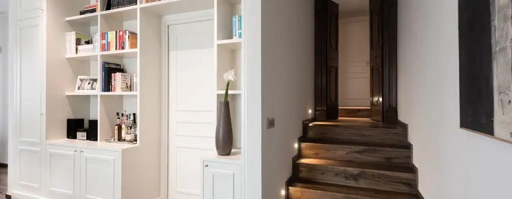 18 Ide Tangga yang Ideal Untuk Rumah Berukuran Kecil - badezimmer 3x3 meter