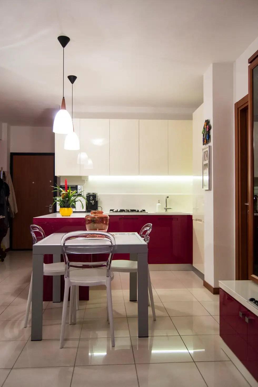 Cucina Moderna Rossa E Bianca | Cucina Bianca Rossa