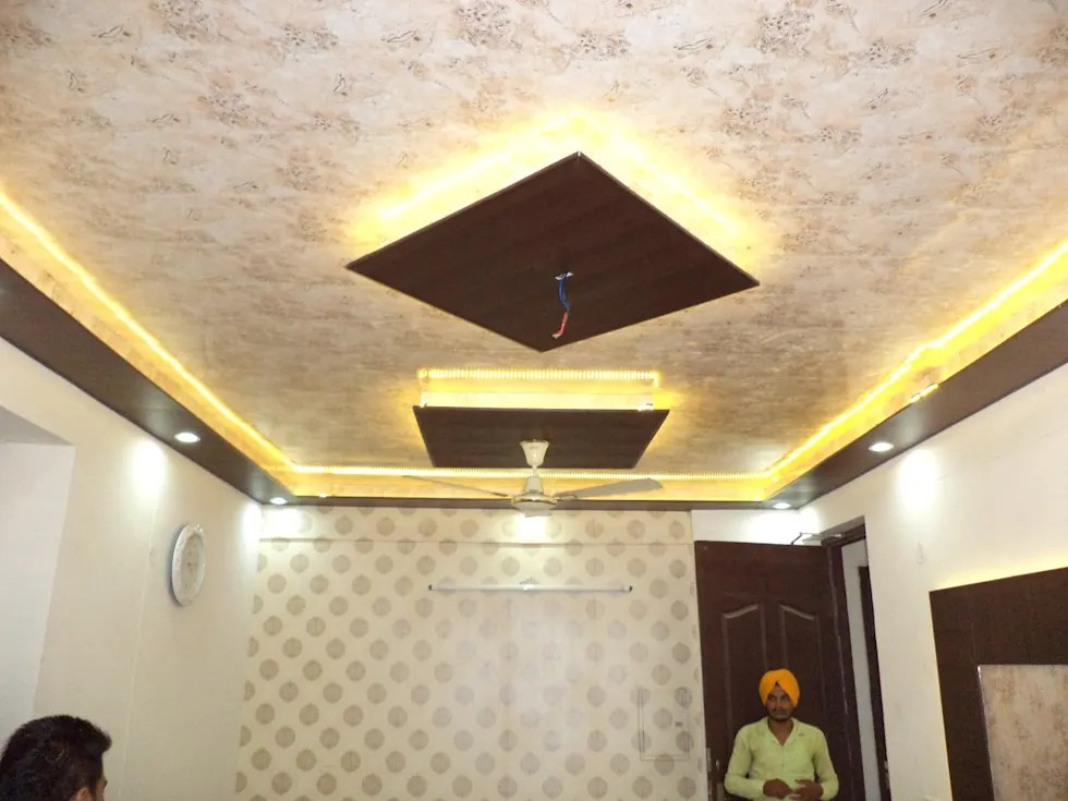 P O P Fall Ceiling Wallpaper Interior Design Ideas Inspiration Amp Pictures Homify