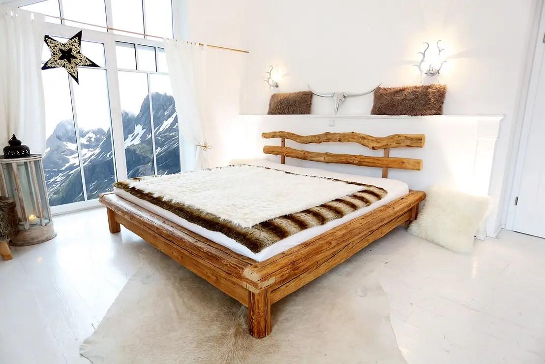 Massivholz Bett Altholz Das Triple Bett Balkenbett Holz Altholz 1696