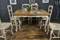 6 Seater Cream Extending Shabby Chic French Dining Set by ...