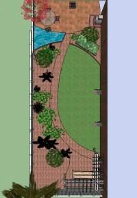 Long narrow modern garden by Jane Harries Garden Designs ...