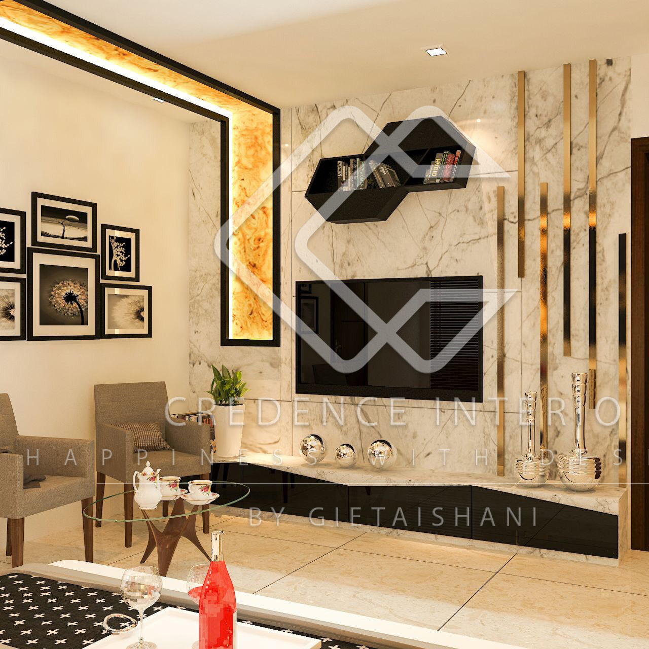 Wall Art Credence Credence Interio Interior Designers Decorators In New Delhi