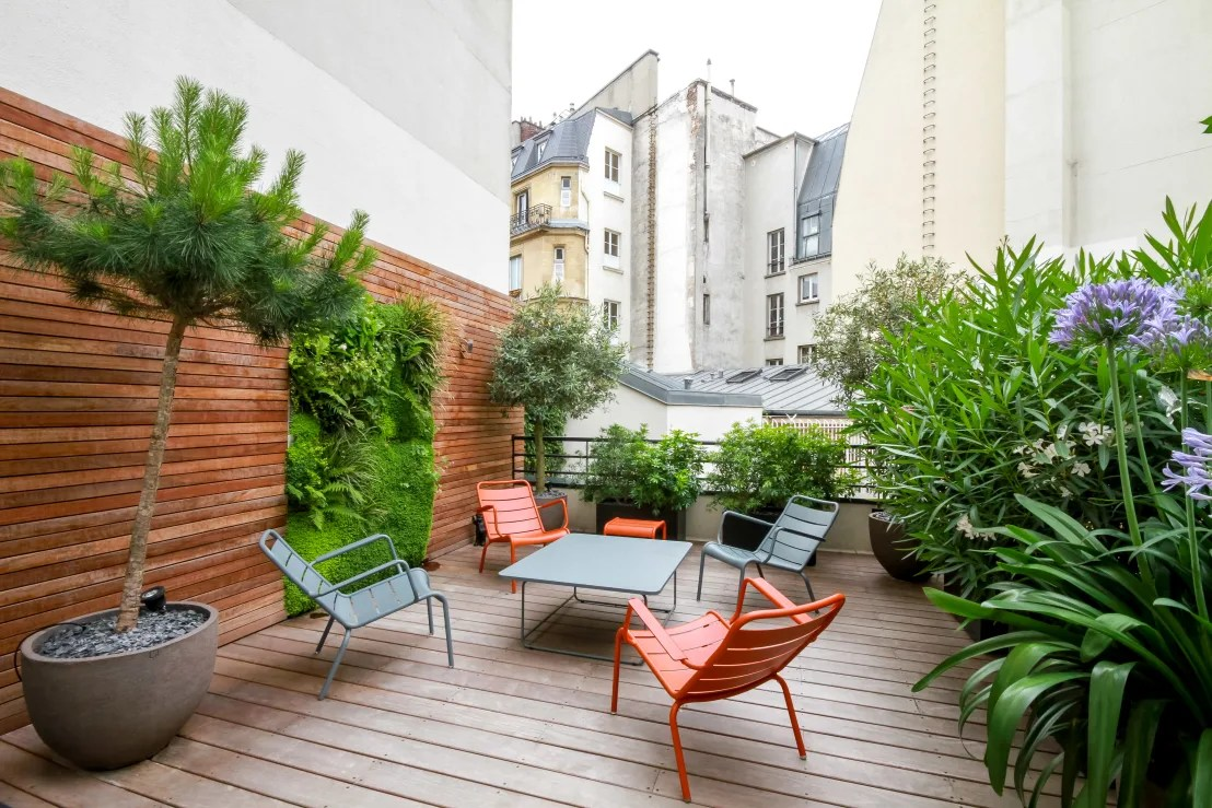 Terrasse Paysagiste Toit Terrasse Miromesnil By Terrasses Des Oliviers Paysagiste