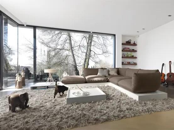 Große Räume einrichten - groses wohnzimmer einrichten