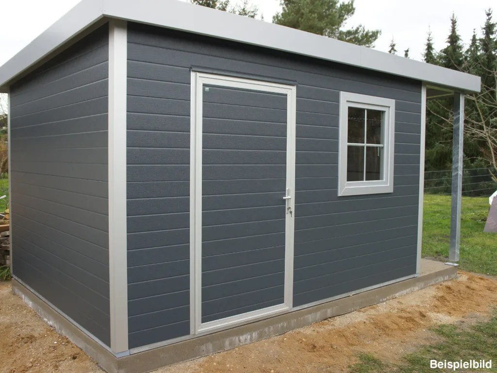 Gonschior Trapezblech Gonschior Ohg Garden Shed Metal Grey | Homify