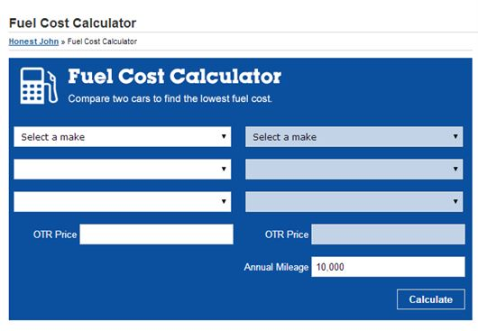 What is the Honest John Fuel Cost Calculator? Honest John