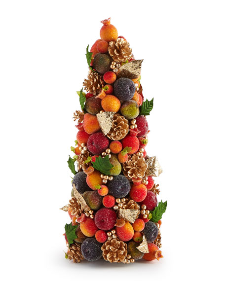 "Houzz Rugs Salzburg Creations Beaded Fruit 18"" Conical Tree"