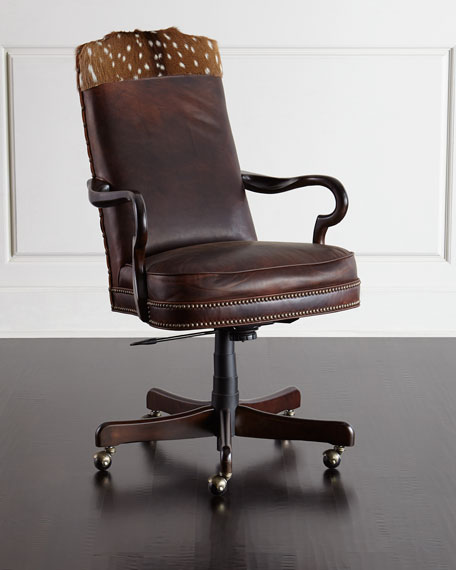 Jb Lighting Usa Massoud Vale Leather Hairhide Office Chair