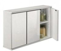 3 Door Mirrored Bathroom Cabinet - White was 49.99 Now  ...