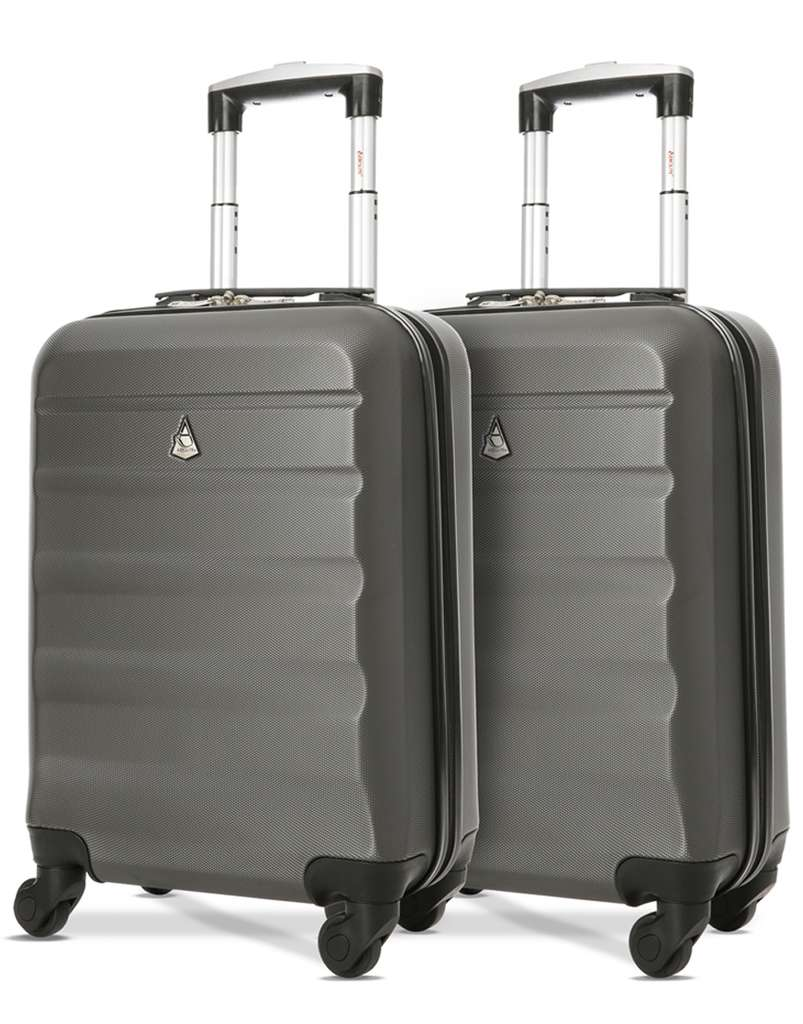 Lightweight Cabin Luggage 2 X Aerolite Lightweight Hard Shell Cabin Suitcases Easyjet