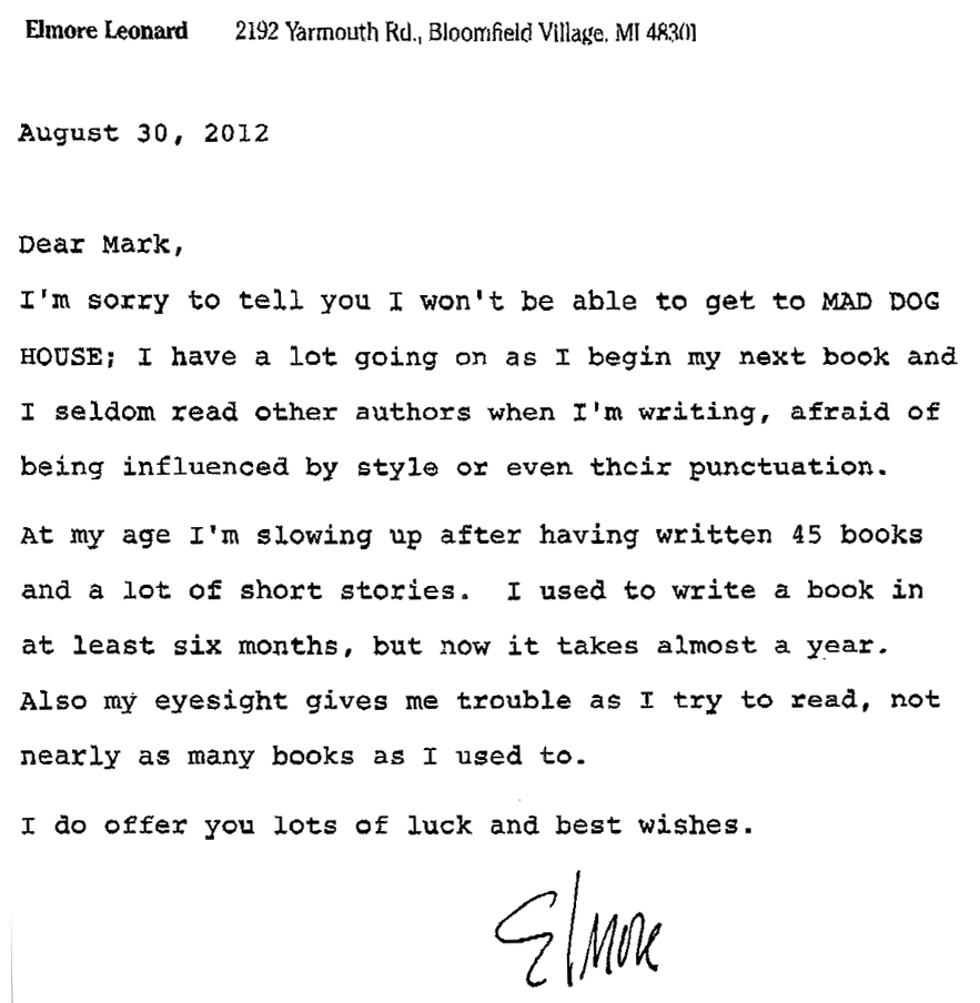 Sample Time Off Request Letter Sample Letters Elmore Leonard A True Measure Of The Man Huffpost