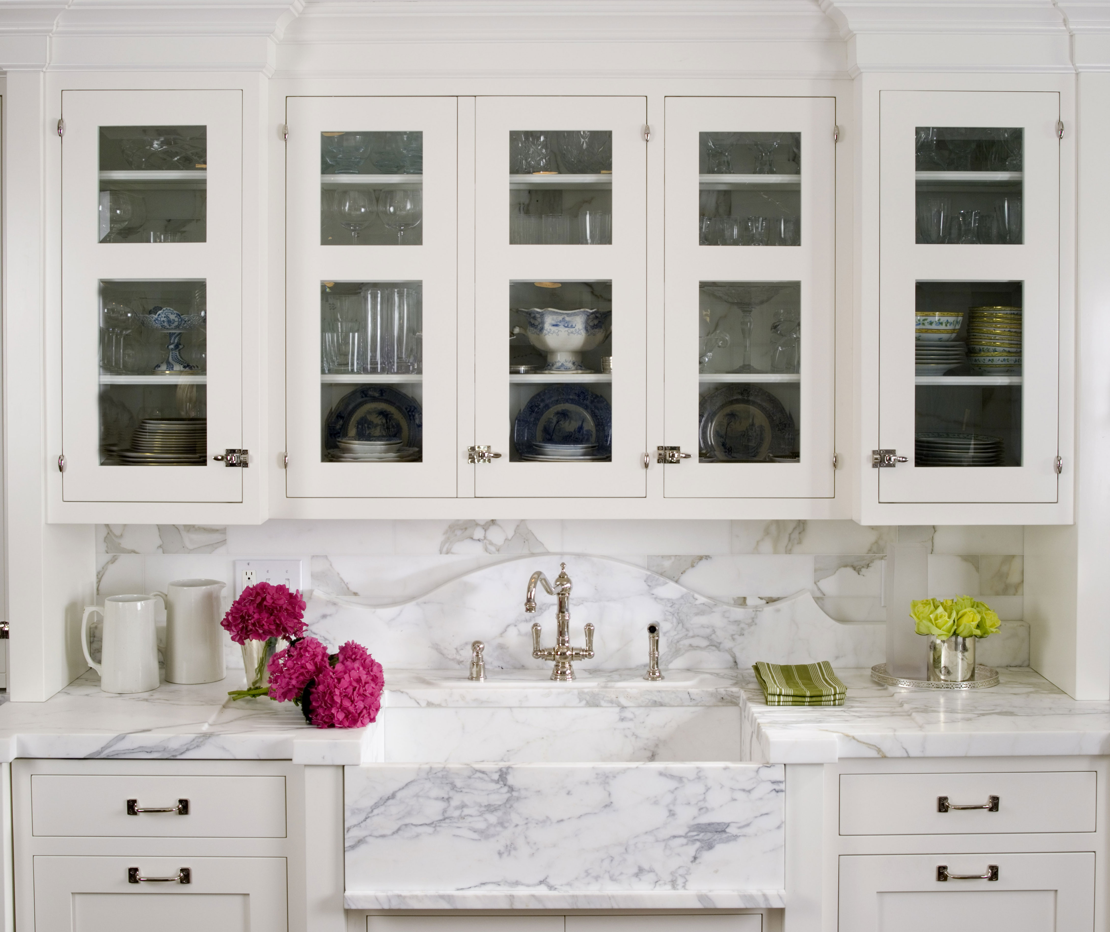 tips perfect white kitchen design kitchen with white cabinets 03 11 StCharlesWhiteMarbleKitchen