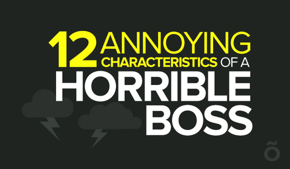 12 Characteristics Of A Horrible Boss Infographic HuffPost - characteristics of great employees