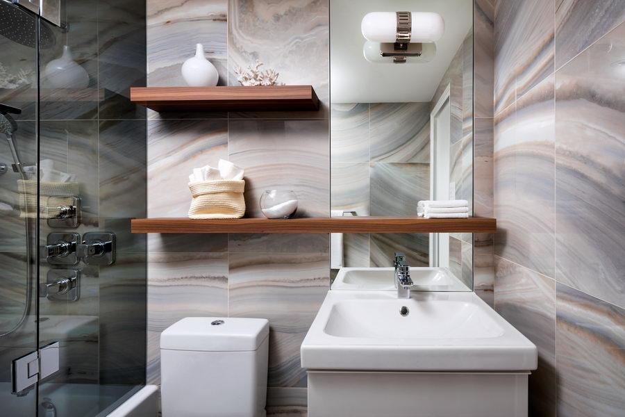 Designer 1 2 3 Compact Condo Bathroom Renovation