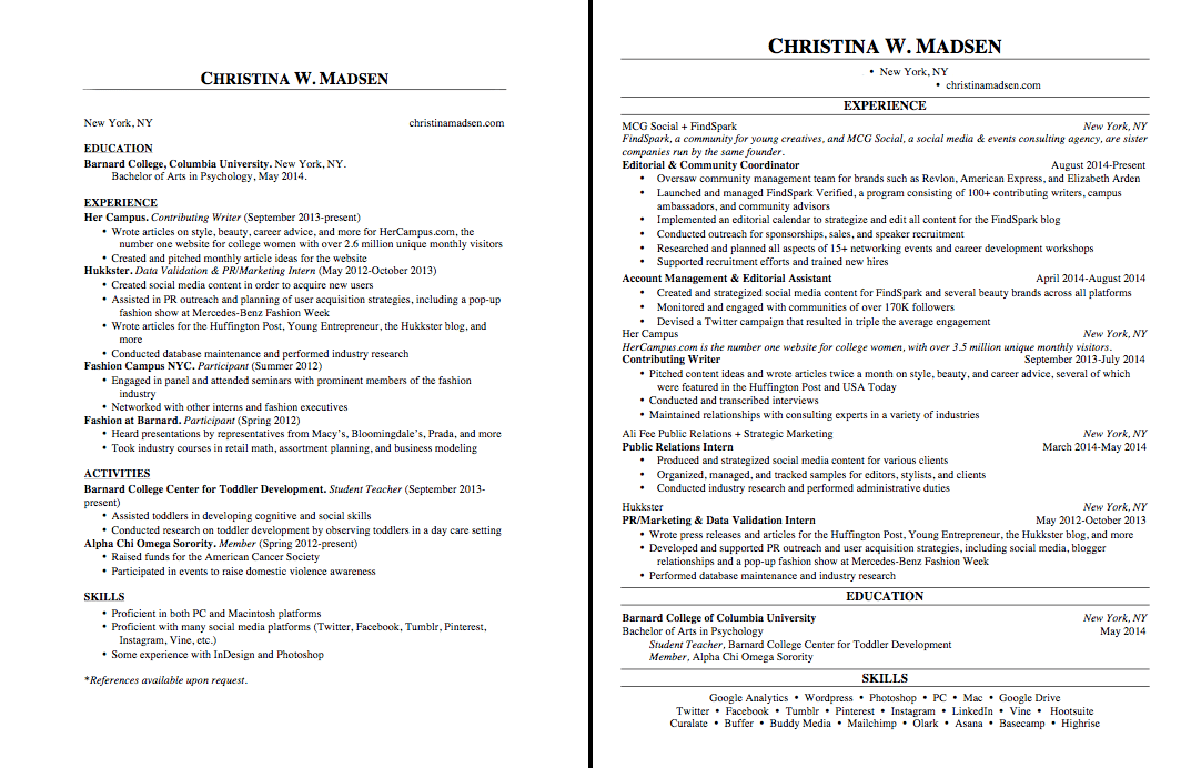 how many pages should a government resume be