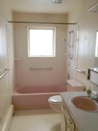 A Budget Bathroom Makeover: From Pink Toilets To Pops Of ...