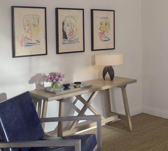 Living with Art Series Living Room Vignette - Artwork by Pablo - artwork for living room