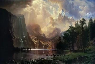 Glam Fall Background Wallpaper Among Sierra Nevada In California Canvas Print Albert