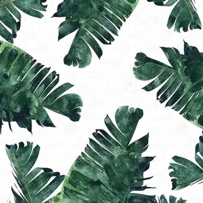 Black And White Leaf Wallpaper Banana Leaf Watercolor Canvas Artwork By 83 Oranges Icanvas