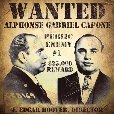 Typography Quotes Wallpaper Al Capone Wanted Poster Canvas Print By Vintage Apple