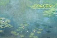 Waterlilies Framed Print by Claude Monet   iCanvas